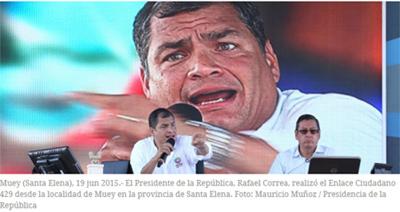 Correa llama a sus simpatizantes a defender la revolución en las calles