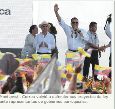 Correa dice que no dará  «ni un paso atras»