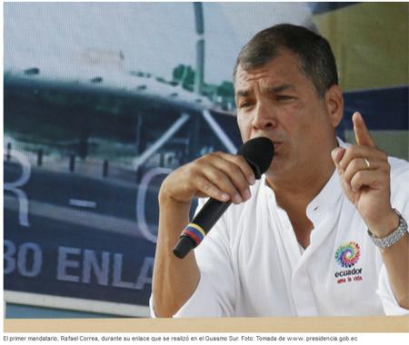 Para Correa, la marcha de Guayaquil