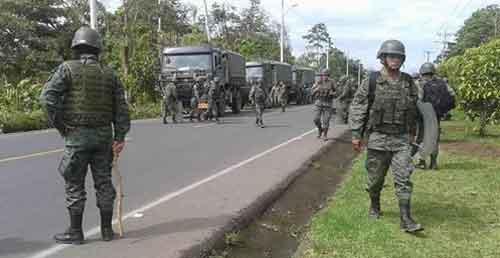 Última hora: Se reporta movimiento de militares en vía Macas-Puyo
