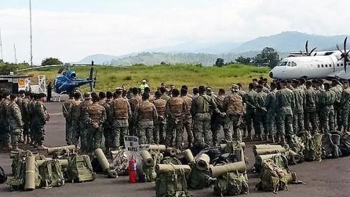 Grupo de militares llega a Macas