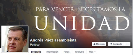 Asambleísta Andrés Páez envía carta al Mando Militar ecuatoriano