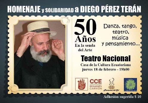 Homenaje solidario al artista Diego Pérez Terán