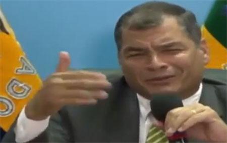 Correa dice que lo de Solca no es un tema muy interesante (Video)