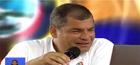 Rafael se ríe de los nombres inusuales de manabitas. (Video)