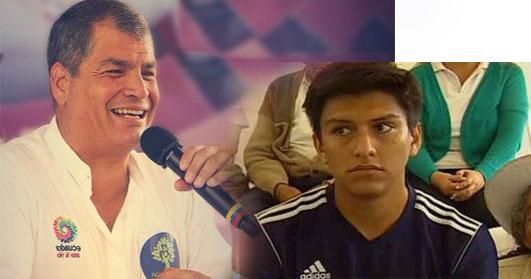 Ola de memes en Internet por pregunta de Correa a becario desempleado