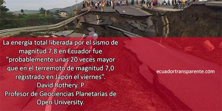 Terremoto de 7.8 en la costa ecuatoriana