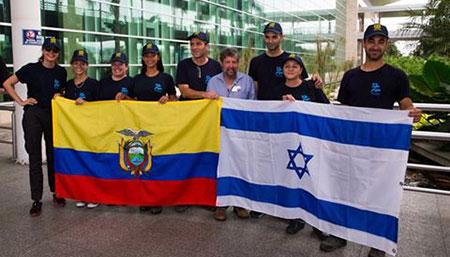 Médicos de Israel llegaron para instalar hospital móvil en Canoa