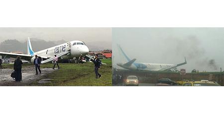 Avión de Tame se sale de la pista en aeropuerto Lamar de Cuenca (Video)