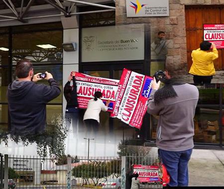 Ciudadanos clausuran simbólicamente lo que consideran entidades «vagas del gobierno» (Video)