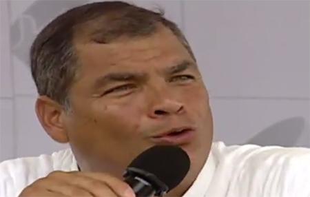 Correa da a entender que los pobres siempre seguirán siendo pobres