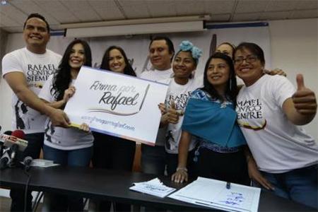 Colectivo Rafael Contigo Siempre indica que en 7 días han recogido 214 mil firmas.