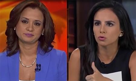 Marcela Aguiñaga dice a periodista Estéfani Espín que es muy poco objetiva y sesgada (Video)
