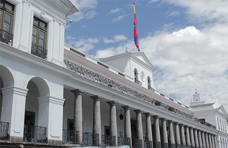 Carondelet es escenario para el matrimonio de jueza de la Corte Constitucional