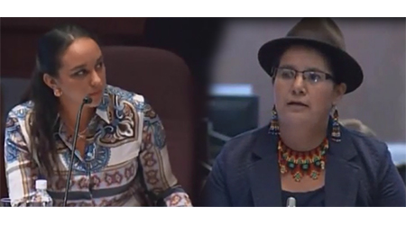 Presidenta de la Asamblea amenaza a asambleísta Lourdes Tibán (Video)