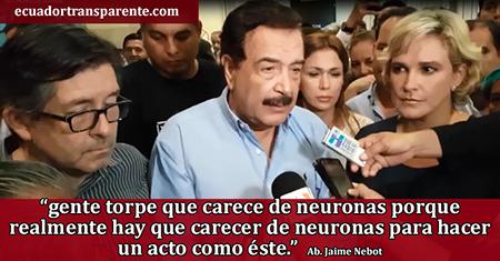 Nebot califica como gente torpe y sin neuronas a venezolanos que deportaron a Cynthia Viteri (Video)