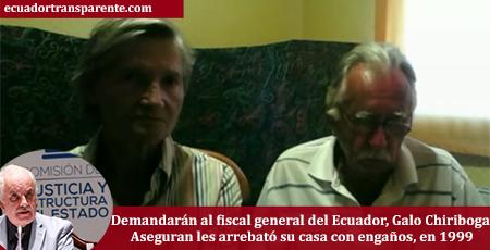 Pareja alemana demandará a Fiscal Galo Chiriboga (Video)