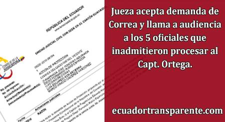Oficiales del Consejo de Disciplina que no aceptaron demanda de Correa ahora son llamados por una jueza