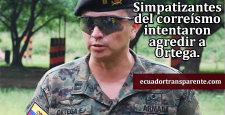 Capitán Ortega, demandado por Correa por responderle un email, dice que una turba lo agredió
