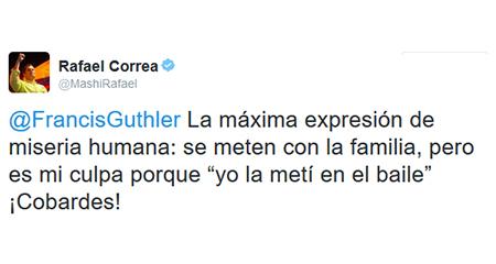 Los 4pelagatos le respondieron a Correa