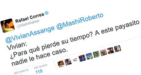 Periodista de diario público El Telégrafo que criticó artículo de hija de Correa, es humillado por el presidente
