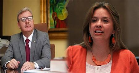 Asambleísta Betty Carrillo de Alianza PAIS, insulta a asambleísta de oposición Ramiro Aguilar (Audio)