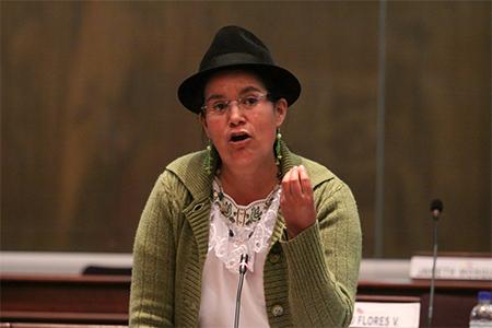 Lourdes Tibán pide que se sancione a Betty Carrillo por insultar a asambleísta de oposición (Video)