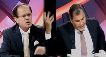 Rafael Correa se enoja cuando periodista Andrés Carrión le pide disculparse por ofender a una dama (Video)