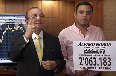 Álvaro Noboa anuncia que ya no será candidato a la presidencia