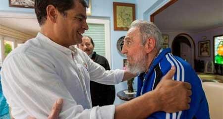 El tuit de Rafael Correa sobre la muerte de Fidel Castro