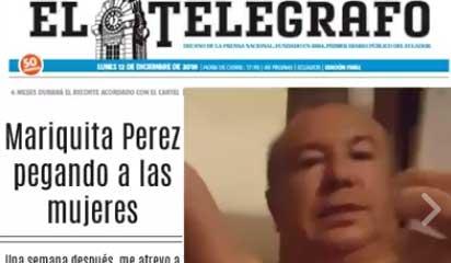 Diario El Telégrafo amenaza con acciones legales contra Crudo Ecuador por colocar este meme