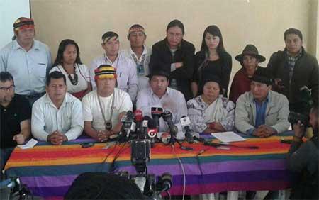 Conaie pide mediación nacional e internacional ante conflicto por presencia minera China en territorios indígenas