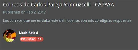 Rafael Correa muestra una carta de Carlos Pareja Yannuzelli, luego de que aparecen los CAPAYALEAKS