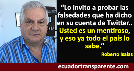 Roberto Isaías responde a Rafael Correa sobre supuesta reunión con Carlos Pareja Yannuzzelli