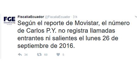 Fiscalía del Ecuador desmiente afirmaciones de CAPAYA