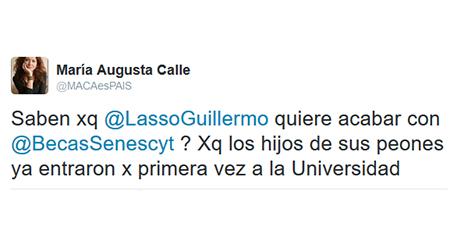 Asambleísta de Alianza PAIS, María Augusta Calle, llama peones a quienes trabajan para Lasso