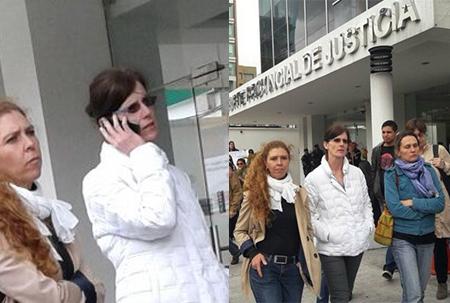 Esposa de Rafael Correa, Anne Malherbe, asiste a plantón en favor de acusado de violación a menor