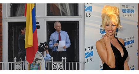 Pamela Anderson, visitante frecuente de Julian Assange en la embajada de Ecuador en Londres