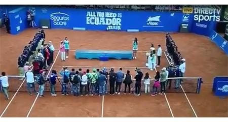 Pifiaron a la delegada del Ministerio de Turismo en el torneo ATP World Tour