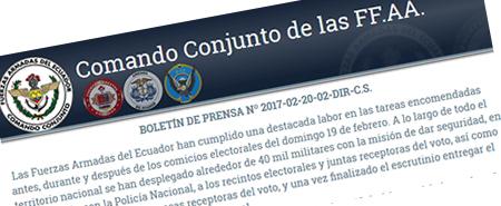 Comunicado Oficial: Las Fuerzas Armadas garantizan la seguridad del proceso electoral