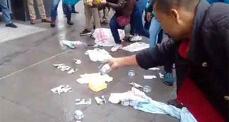 Supuestos manabitas llegaron a la sede de Creo y del Banco de Guayaquil a «devolver» atunes