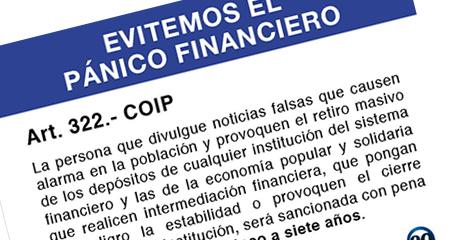 Superintendencia de Bancos recuerda que es delito crear pánico financiero