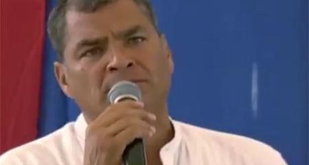 Rafael Correa dice a manabitas que devuelvan los atunes, que devuelvan la limosna (Video)