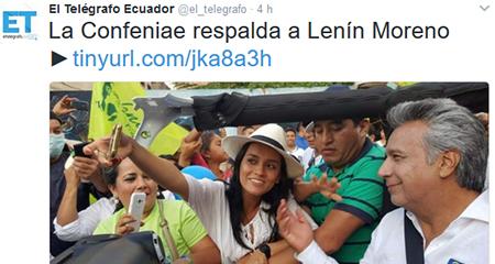 Cofeniae rechaza titular falso de diario público El Telégrafo