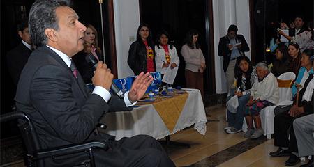 Los familiares de Lenín Moreno en el Estado