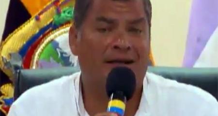 Correa menciona públicamente que quiere que Carlos Baca Mancheno sea el nuevo Fiscal General