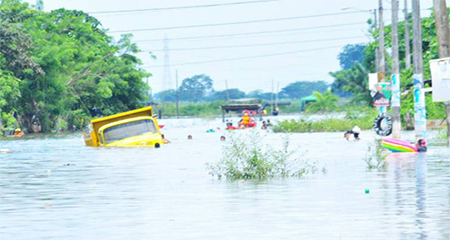 Un fallecido y 400 evacuados por el desbordamiento de ríos en Milagro