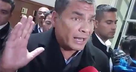 Correa no descarta tomar acciones legales contra Cedatos