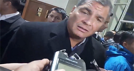 Correa dice a periodista:«no sea sufridora y acepte la derrota» (Video)