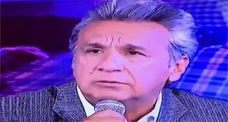 Lenín Moreno se molesta con periodista porque no le dijo «presidente»  (Video)